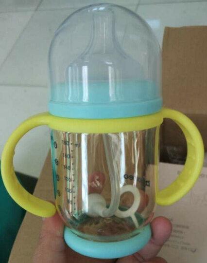 贝能(Baoneo) 婴儿奶瓶宽口径带手柄宝宝防摔防吐奶防胀气硅胶奶瓶 蓝180ML-奶瓶+L号奶嘴 晒单图
