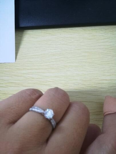 一搏千金 18K金/PT950铂金新伯爵公主求订结婚钻石戒指/情侣婚戒女款珠宝钻戒 18K金30+15分VS DE 2.2g 晒单图