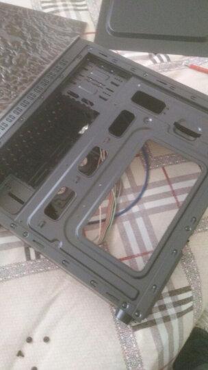 御轩 台式机电脑机箱 夜魅ATX游戏主机箱全透背线机箱 白色+四个彩色风扇 晒单图