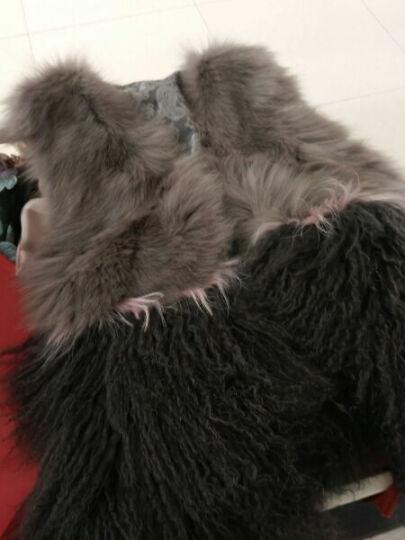 Bolonie 2018狐狸毛皮草背心女士滩羊毛皮草马甲皮草外套中长款 粉红色 L 晒单图
