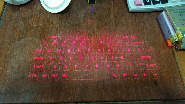 爱慧宝 miniF3激光投影键盘蓝牙镭射投影语音播报蓝牙音箱鼠标充电宝功能 玫瑰金 晒单图