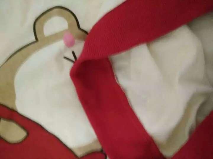 南极人(Nanjiren) 南极人宝宝2018夏季纯棉短袖套装婴儿全棉夏天衣服新款儿童童装 可爱小云朵-浅橙 110CM 晒单图