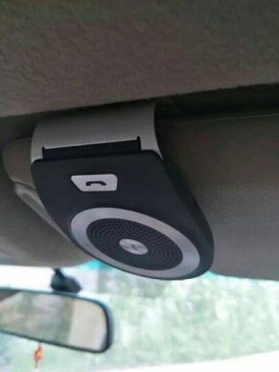 车载蓝牙接收器 免提电话遮阳板车用蓝牙音箱 汽车蓝牙大喇叭 黑色 晒单图