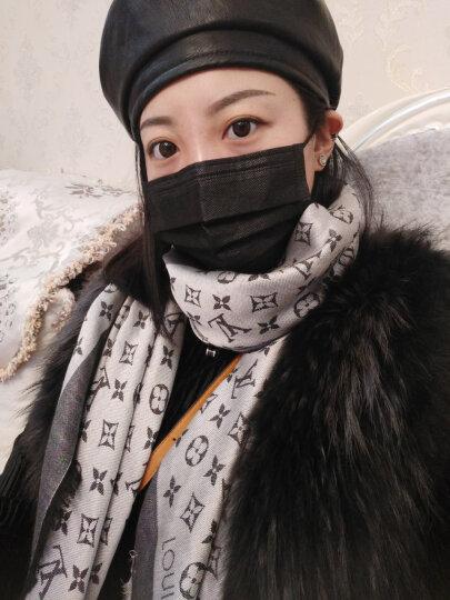 全球购 LV路易威登(Louis Vuitton)lv新款女士丝羊毛混纺印花围巾丝巾披肩 蓝色 晒单图