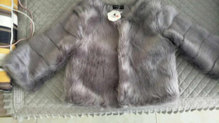 七匹龙 2019秋冬新款芬兰女外套大衣短款JM8822 灰色 XL 晒单图