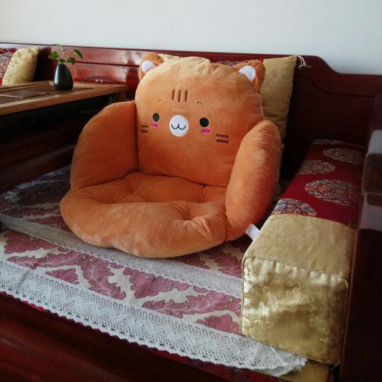美美爱 椅子坐垫靠垫一体 学生加厚椅垫可爱办公室椅垫子餐椅垫 眯眼熊 全包围坐垫 晒单图