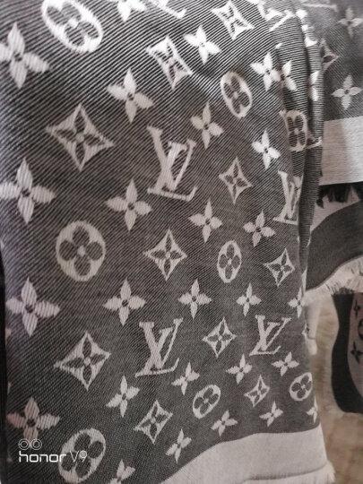 全球购 LV路易威登(Louis Vuitton)lv新款女士丝羊毛混纺印花围巾丝巾披肩 玫瑰红色 晒单图