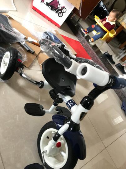 小虎子儿童三轮车脚踏车自行车溜娃神车可折叠躺倒座位转向遛娃车小孩手推车1-3岁T300升级 星际蓝(折叠款) 晒单图
