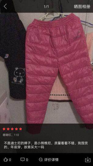 迪士尼(DISNEY) 冬季男女童羽绒裤宝宝纯色轻羽绒长裤保暖儿童裤子 浅灰 130 晒单图