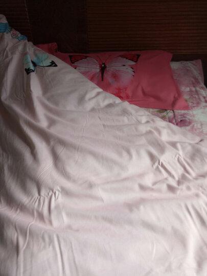 锦芙秀家纺 加厚全棉四件套田园婚庆秋冬床上用品纯棉双人保暖被套床单床品套件 紫薇 2.0米床(适用被芯220*240cm) 晒单图
