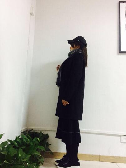 花花公子贵宾 风衣男 2018春季新款男士休闲时尚修身连帽中长款薄款防晒衣服外套男 F123黑色 170/M 晒单图