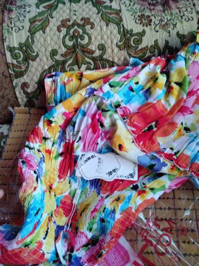 抢疯了!特价促销女装夏季连衣裙全棉印花抹胸吊带裙波西米亚海边渡假沙滩裙633 621绿色的 均码 全棉面料 质量保证 晒单图