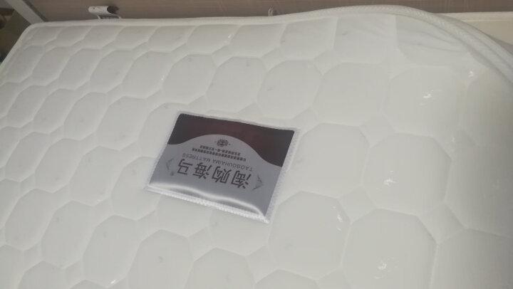 淘购海马床垫 香港海马床垫进口乳胶床垫 双人席梦思弹簧床垫  椰棕床垫硬棕垫 软硬两用可拆洗 D款 针织+九区独立袋弹簧+乳胶 1500*2000 晒单图