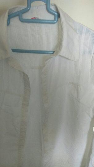 紫华 立领白色衬衫女长袖2019年新款纯棉修身显瘦百搭上衣工作服时尚洋气职业衬衣加绒加厚娃娃领打底衫 N-5842白色 L 晒单图