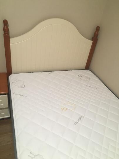 优漫佳 地中海儿童床家具小床实木1.2米1.5米单人床单层床 排骨床+床头柜*1+薄床垫(蓝色) 1.2*2米 晒单图