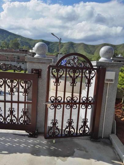奥登格勒庭院门乡村欧式别墅铝艺大门悬浮门对开双开门电动悬浮折叠门 AD-006 晒单图