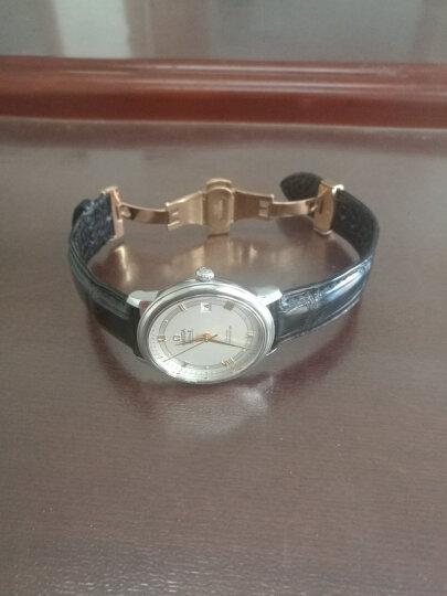 佳时利双面鳄鱼皮竹节纹手表带代用欧米茄劳力士万国萧邦积家卡地亚江诗丹顿百达翡丽伯爵 咖色-黄金色扣 20MM 晒单图
