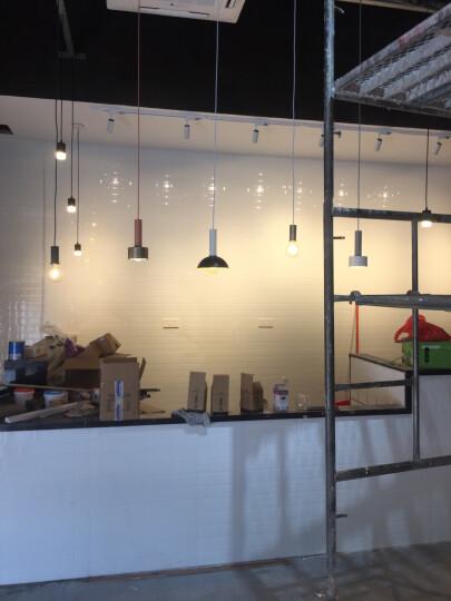 光团精工 费尔姆吊灯 北欧丹麦设计师餐厅吧台卧室床头灯创意个性loft单头马卡龙小吊灯 长灯头浅灰蓝(含光源) 晒单图