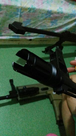 锦明8代下供弹M4玩具枪金属消音火帽器可调节NERF玩具专用装饰金属配件仿真模型 三叉戟帽【带螺牙】 晒单图