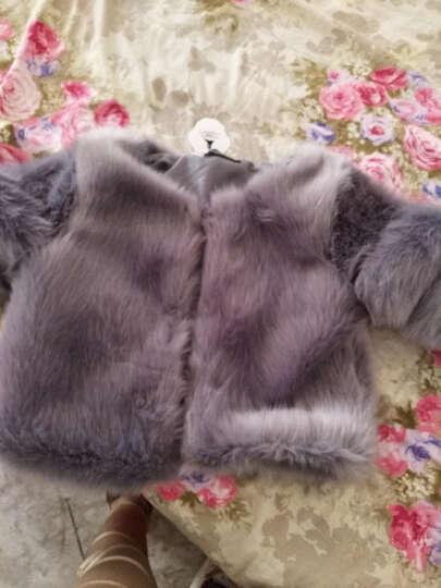 七匹龙 2019秋冬新款芬兰女外套大衣短款JM8822 黑色 M 晒单图