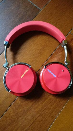 Bluedio/蓝弦 T4S 头戴式蓝牙耳机 主动降噪重低音无线耳机游戏耳麦 红色 晒单图