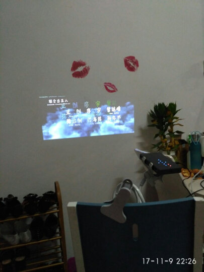瑞视达光米X1声控版 微型投影仪家用手持便携式手机同屏无线wifi智能充电小型投影机办公 标配+支架+充电宝+小音箱 晒单图