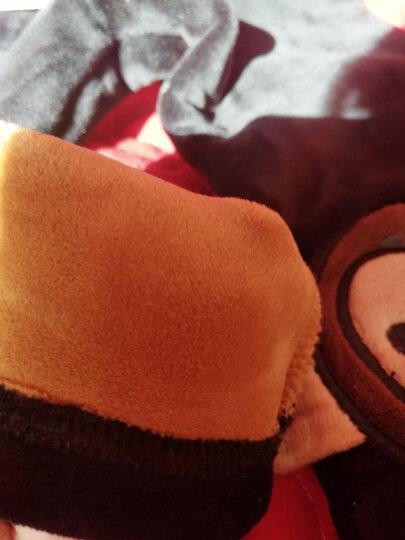英薇(yingwei)女童打底裤秋冬季2019新款儿童裤子春秋保暖韩版加绒加厚外穿长裤 猴子棉面银狐绒-黑 150码(建议高145CM左右) 晒单图