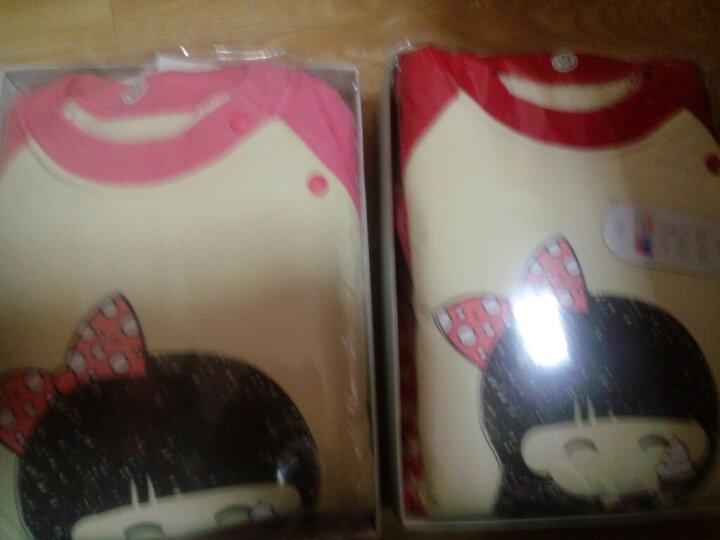 南极人(Nanjiren) 南极人宝宝夹棉套装秋冬男童女童加厚保暖衣服卡通波点套装 小狗小猫-卡其 100cm 晒单图