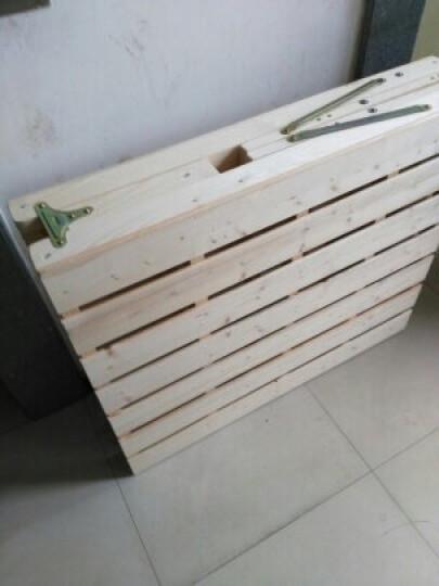 欧圣德 实木折叠床单人床午休床1米1.2米1.5米小孩床简易床双人床木板床 B款 150cm宽 晒单图