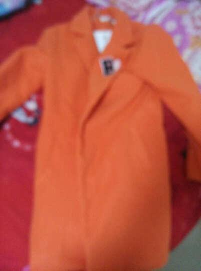 2018冬季童外套 中大女童夹棉时尚羊毛呢大衣 儿童冬装外套 蓝色 160cm 晒单图