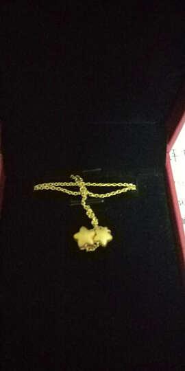 明牌珠宝 黄金项链 女款 星星子母系列 黄金吊坠+项链 套链AFB0031工费100 足金项链 42厘米 约6.77克 晒单图
