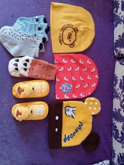 公主妈妈 婴儿帽子秋冬季0-3-6-12个月男女宝宝帽子韩国儿童小孩毛线帽套头帽1-2岁 姜黄 晒单图