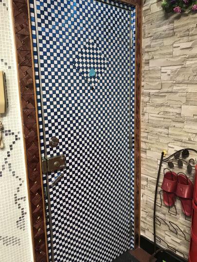 金属自粘铝塑板马赛克拉丝自贴KTV电视客厅背景墙欧式内墙装饰装修千羽 M款10灰蓝彩钻 晒单图