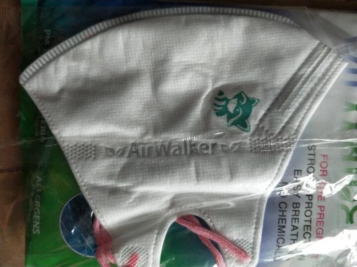 鲜行者 Airwalker 美国进口滤材孕妇防护口罩 孕妇适用 防PM2.5防雾霾 耳带式 6只装 晒单图