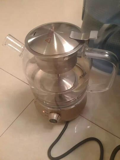 心好708煮茶器黑茶电茶壶养生壶玻璃电热水壶煎药壶烧水壶茶具电茶炉多功能电煮茶壶花茶壶保温 604款黑色 晒单图