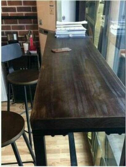 美式实木吧台桌铁艺吧椅高脚椅吧凳酒吧桌椅靠墙吧台家用长条桌 桌子尺寸颜色订制,联系客服 晒单图