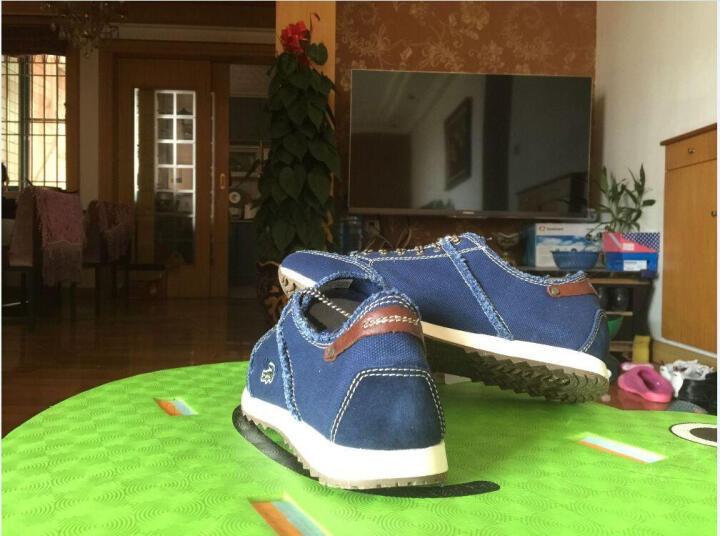 卡帝乐鳄鱼(CARTELO)帆布鞋 男士运动鞋休闲跑步鞋百搭系带男鞋时尚低帮板鞋运动潮鞋 咖啡色 38 晒单图