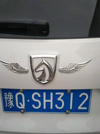 点缤 天使之翼汽车翅膀车贴车标 3D立体贴车尾标车身贴 金属车贴遮痕外饰 汽车用品 高贵银 风度MX5MX6菲亚特菲翔致悦长安CX70T欧尚 晒单图