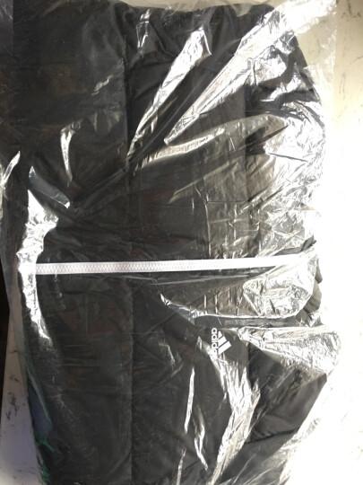 Adidas阿迪达斯  新款男子运动休闲保暖连帽羽绒服外套BQ8599 X 蓝亮面/BQ7779 M 晒单图