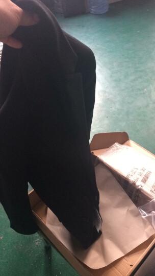 布彦西服男修身韩版冬季羊毛呢商务休闲小西装外套男潮上衣青年单西男加厚款纯色呢子大衣秋季 黑色西服+黑色毛衣 L 晒单图