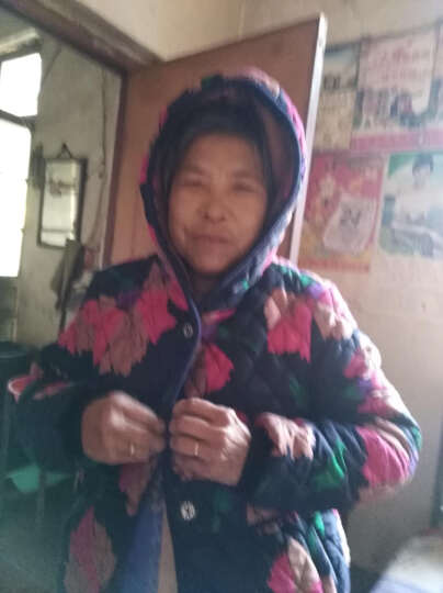 心娜2017冬季中老年女装妈妈装冬装宽松加绒加厚棉衣棉服老人外套1497 花色3 3XL 晒单图