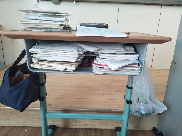 得力(deli)72365 多功能可调课桌挂袋 学生书本收纳袋/挂架/挂书袋 黑色 晒单图