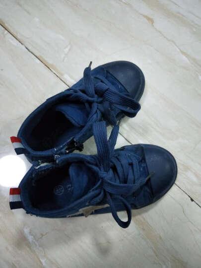 蜡笔小新儿童雪地靴男女童棉鞋加厚保暖女童靴子X-390大红24 晒单图