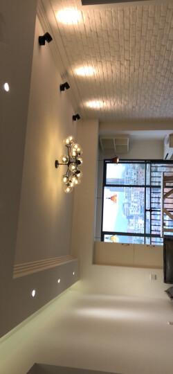璀璨一生 客厅灯吊灯具套餐全屋成套灯后现代餐厅简约卧室灯组合现代铁艺灯饰 奶白6头射灯款 暖光 晒单图