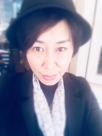 布塔帽子女秋冬季小礼帽羊毛呢帽冬天时装帽蝴蝶结帽子 黑色 (56cm-58cm) 晒单图