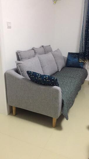 逸乐居 北欧乳胶沙发现代简约小户型可拆洗棉麻布艺组合双三人位 粉红+出口版全实木框 单人位(0.9米)海绵坐垫 晒单图