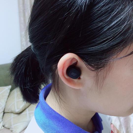 iKF M1 隐形蓝牙耳机 无线迷你小巧超小运动商务入耳式车载耳机 苹果/安卓vivo华为小米OPPO手机通用 黑绿色 晒单图
