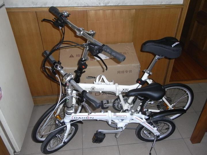 大行(DAHON) 折叠自行车14寸超轻铝合金成人学生便携代驾单车BYA412 白色 晒单图