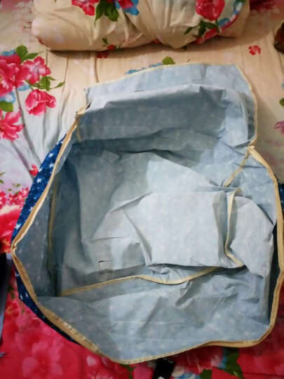 简纳 收纳袋棉被被子牛津布袋衣服整理储物袋搬家袋子收纳箱盒 折叠棉被袋领结小熊 中号+大号+特大号(三件套) 晒单图