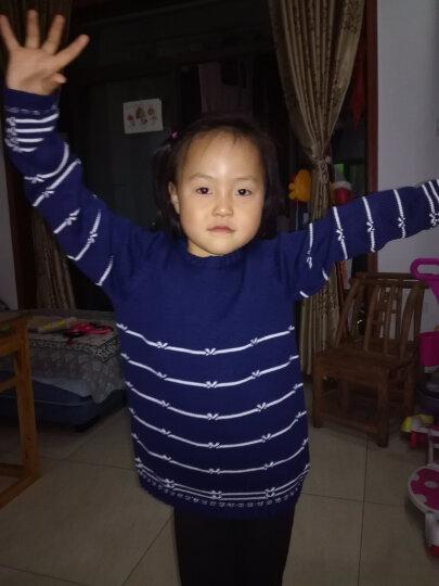 派克兰帝(PacLantic)套头线衣 女童条纹蝴蝶结套头线衣  JGMJ55201 粉红  160 晒单图